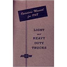 1948 CHEVROLET TRUCK Full Line Owners Manual User Guide