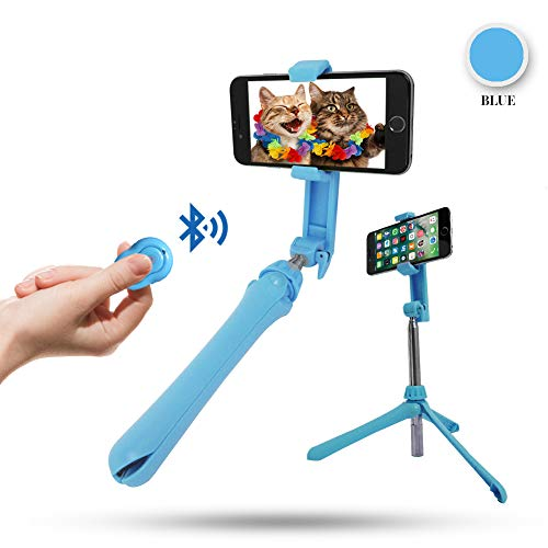Selfie Stick Tripod with Detachable Wireless Remote Shutter for iPhone & Android: 360° Rotating Phone Holder, Extendable Stick & Reversible Pin... from MAGIPEA