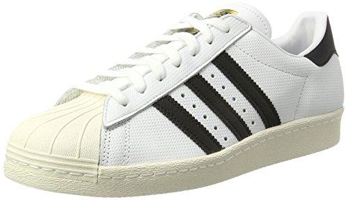 adidas Superstar 80s, Scarpe da Ginnastica Basse Uomo Bianco (Footwear White/Core Black/Core Black)