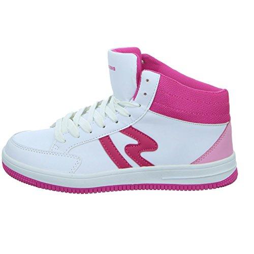 Sneakers BNH15157 Mädchen Schnürstiefelette Kaltfutter Weiß (Weiß)