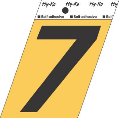 Jensen Hy-Ko GG-25/7 #7 Self-Adhesive Aluminum Number, 3....