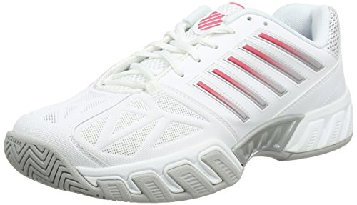K-Swiss Women`s Bigshot Light 3 Tennis Shoes (Bonnie White/Dark Shadow Size 9)