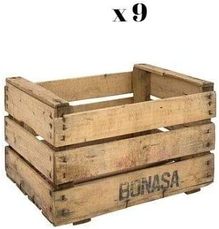 Set de 9 Cajas de Madera de Fruta en Crudo para Decorar: Amazon.es ...