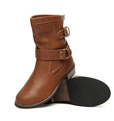 055c709b4630 Dahanyi Stylish new fashion women boots female spring and autumn women s  martin boots flat vintage zip chains square heel