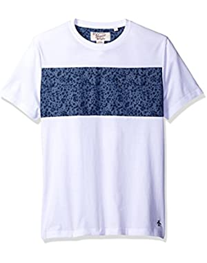 Men's Short Sleeve Ditsy Floral Panel Tee