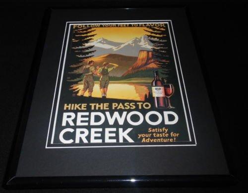 Merlot Framed - 2004 Redwood Creek Merlot Wine 11x14 Framed ORIGINAL Vintage Advertisement