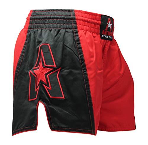 (Anthem Athletics Infinity G2 Muay Thai Shorts - Kickboxing, Thai Boxing - Red & Black G2 - Medium)