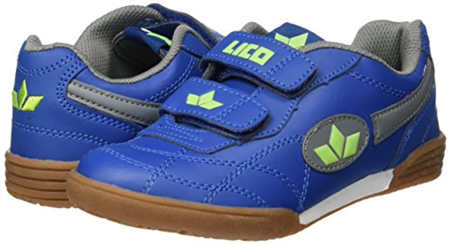 Lico Bernie V,  Unisex Kids Fitness Shoes, Blue (Marine/Grau/Lemon),  1 Child UK (33 EU)