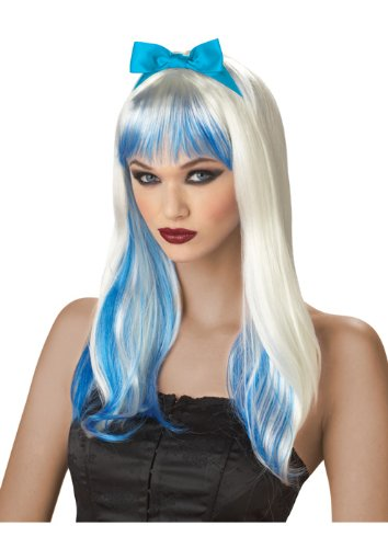 California Costumes Enchanted Tresses Wig, Blonde/Blue, One (Enchanted Tresses Adult Wig)