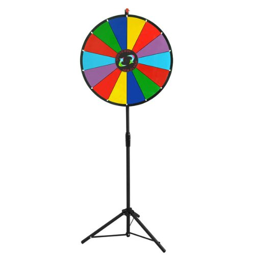 colorful dry erase spinning prize wheel with tripod 24 u0026quot  with 14 slots in dubai