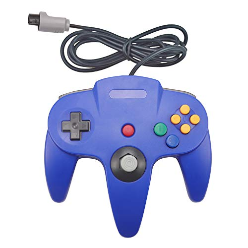 Joxde 1 Pack Upgraded Joystick Classic Wired Controller for N64 Gamepad Console (Blue2) by Joxde