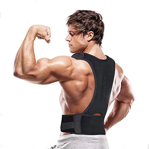 Comezy Back Brace Posture Corrector for men women丨Effective Relieve Pain丨 Fully Adjustable Trainer Back Brace丨Improves Posture and Provides Lumbar Support Brace丨Lower and Upper Back Brace (34-42) (Posture Monitor)