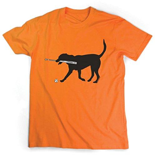 Baseball Jersey Orange Axl (Baseball Dog with Bat T-Shirt   Baseball Tees by ChalkTalkSPORTS   Orange   Adult X-Large)
