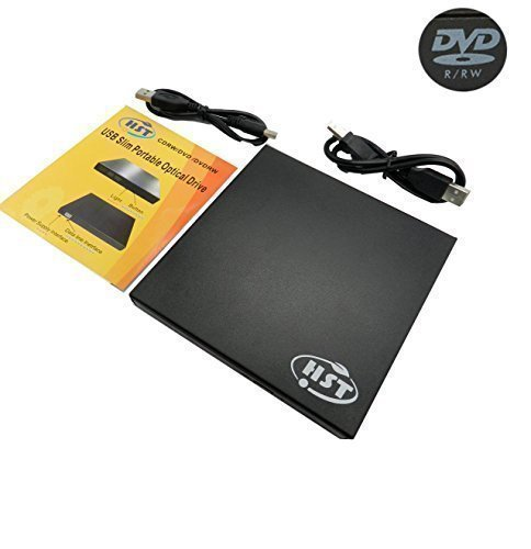 HST® NEW Black Electronics 8X USB 2.0 Ultra Slim Portable USB External CD-RW DVD-RW Combo Drive (Note: it's not compatible with Apple MAC) ,Plug and Play