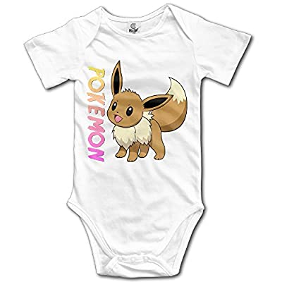 Custom Pokemon Baby Girl And Boy Climbing Cartoon Short Sleeve Tee [ -