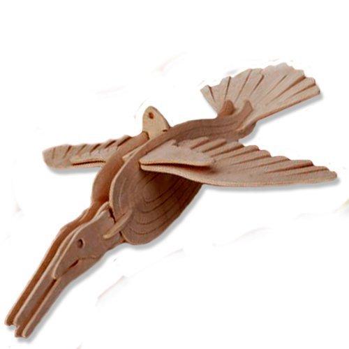 名作 3 - 3 D木製パズル # –。Item 小さなKingfisher – Affordableギフトfor your Little One。Item # dchi-wpz-e025 B004QDXP22, 木材倉庫 ムック:52195939 --- quiltersinfo.yarnslave.com