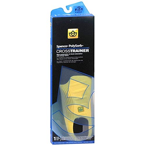 - Spenco PolySorb Cross Trainer Insoles Size 3 1 Pair (Pack of 3)