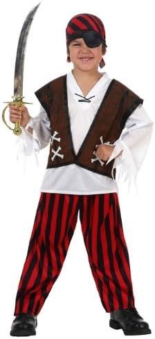 LIBROLANDIA - Disfraz de pirata para niño, talla 10-12 años (10914 ...