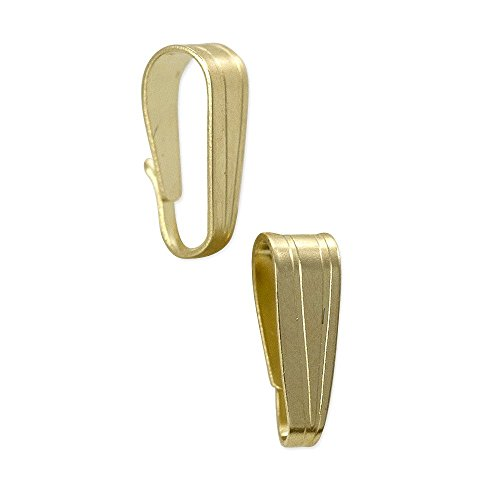 JewelrySupply Snap Bail 6.5x2.5mm 14k Solid Yellow Gold ()