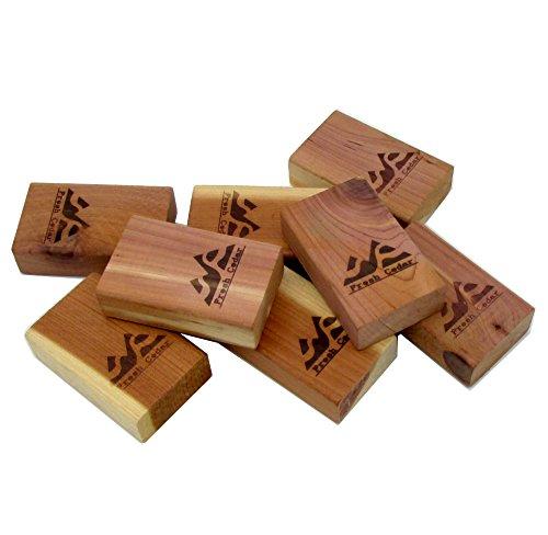 Closet Essentials - Fresh Red Cedar Blocks Pest Moth Repellent Storage Accessories 1- Pack ( 8 Blocks ) (Cedar Wood Closet For)