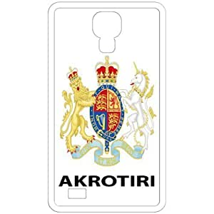 Akrotiri - Country Coat Of Arms Flag Emblem White Samsung Galaxy S4 i9500 Cell Phone Case - Cover
