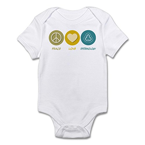 CafePress - Peace Love Epidemiology Infant Bodysuit - Cute Infant Bodysuit Baby Romper