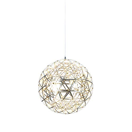 (Spark Ball LED Hanging Lamp Chandelier Ceiling Pendant Lights Fashion Round Stainless Steel Star Studded Kitchen Island Dining Living Room Bedroom Bar Cafe Restaurant Lighting )