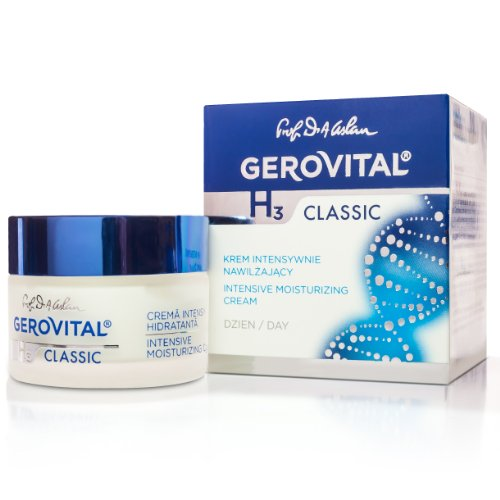 GEROVITAL H3 CLASSIC, Intensive Moisturizing Day Cream (With Hyaluronic Acid) (Hydro Protective Day Cream)