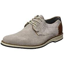 Rieker Frühjahr/Sommer 12504, Zapatos de Cordones Derby para Hombre, Gris (Cement/Braun/Amaretto/Pazifik 41), 45 EU