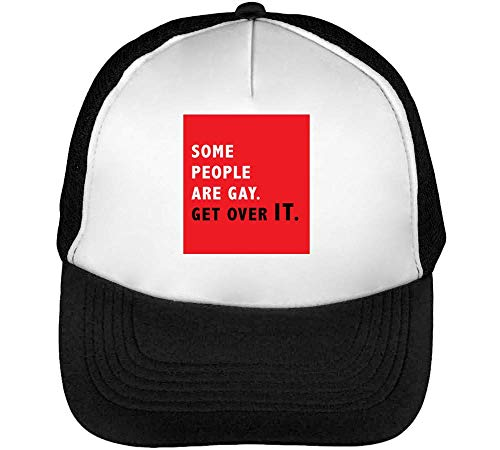 Over Gorras Slogan Blanco Negro Get It Are Some Gay Hombre Snapback Beisbol wX4qtYn
