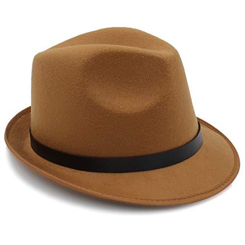 británico de Sombreros otoño Sol de para 58CM tamaño Sombreros 56 de Café de Estilo Sun Hombres Casual Fedora Trilby Caqui de hats Ocasionales Sombreros Invierno Color qzXt55Tpw