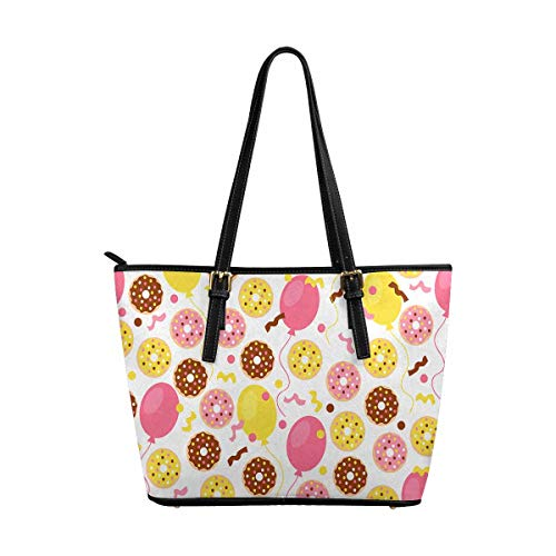INTERESTPRINT Sweet Donuts Balloon Top Handle Satchel HandBags Shoulder Bags Tote Bags Purse