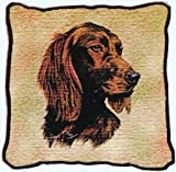 Pure Country Weavers Irish Setter Hand Finished Woven Pillow Made in The USA. Size 17 x 17 Woven to Last a Lifetime
