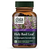 Gaia Herb Holy Basil Lead, Vegan Liquid Capsules - for Stree Relief and Healthy Inflammatory Response, Nourishes The Mind and Elevates The Spirit, Tulsi Extract (8.5 mg Eugenols)