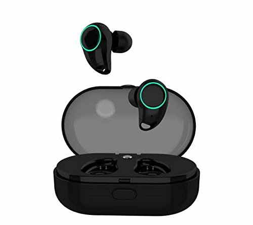 COOLPOWER Wireless Earbuds, Bluetooth Earphones Touch Control I7 Headphones with 1000 mAh Portable Charger Twins HD Stereo IPX5 Waterproof Noise Cancelling for Iphones and Smartphones (Black)