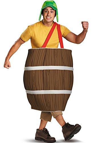 Costume Barrel Man (Disguise El Chavo Deluxe Barrel Adult Costume, Brown,)