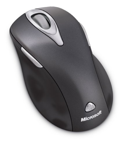 Microsoft 5000 5-Button Wireless Laser Scroll Mouse w/Tilt Wheel Plus Zoom Technology (Black)