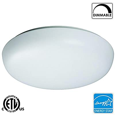 Luxrite LR23060 15-Watt 11 Inch Round LED Flush Mount Ceiling Light Fixture, Equivalent To 50W, Dimmable, Soft White 3000K, Energy-Star Qualified, ETL Listed, 1-Pack
