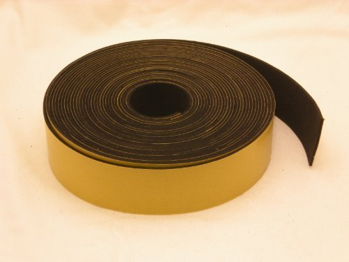 Neoprene Rubber self adhesive strip 1 1/2'' wide x 1/16'' thick x 33 feet long by rubber products (Image #1)