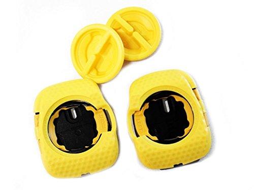 SpeedPlay Zero Aero Walkable Cleats: Yellow (Best Shoes For Speedplay Pedals)