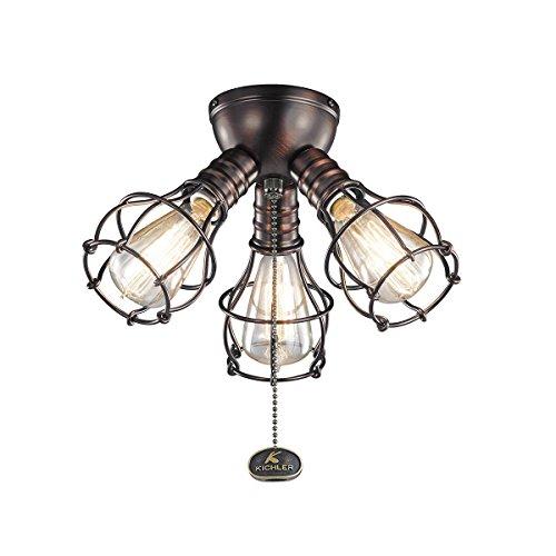 Kichler Fan Light (Kichler 370041OBB Three Light Fan Light Kit)