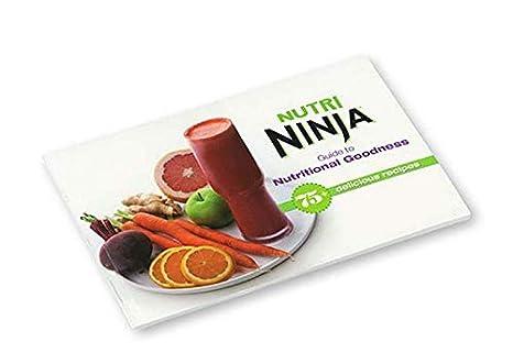Nutri Ninja 75+ Guía de recetas para libro de cocina de ...