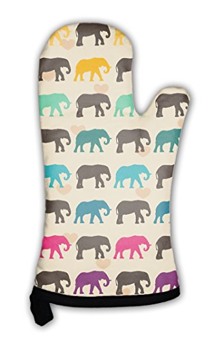 Gear New Oven Mitt, With Colorful Elephants, GN19977