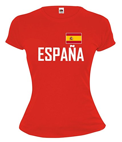 buXsbaum Girlie T-Shirt Spain-XS-Red-
