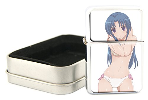 Windproof-Refillable-Oil-Lighter-With-Gift-Case-Erotic-Anime-Design-Item-OL111214-257