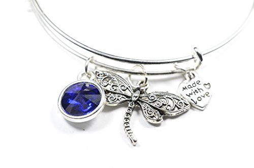 SEP-SAPPHIRE BLUE with - Crystal Bracelet Dragonfly