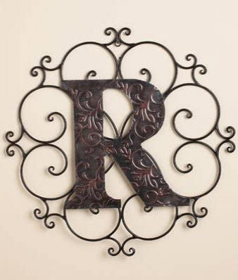 Personalized Letter R Metal Wall Art – Great Gift