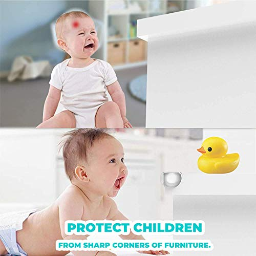 41S9ZPIRZOL Tiny Patrol 24 Corner Guards Baby Proof [Safer Environment and Peace of Mind] Edge Furniture Protector - Easy Set-up 3M Stickers for Tables, Chairs, Cabinets [Baby Proofing Safety]    Product Description