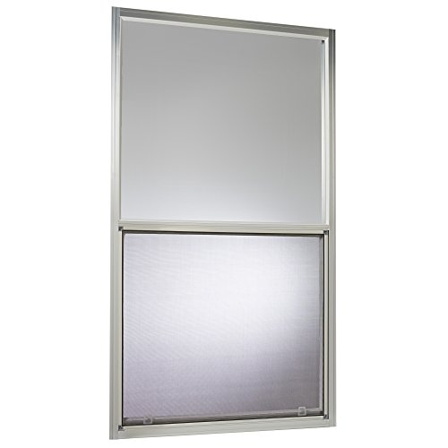 Park Ridge AMHMF3054PR Aluminum Mobile Home Single Hung Window 30 Inch x 54 Inch, Mill Finish Silver by Park Ridge Products