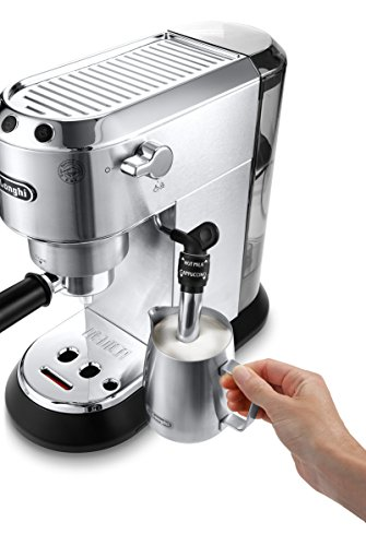 De'Longhi Dedica EC685.M Macchina da Caffè Espresso Manuale e Cappuccino, Caffè in Polvere o in Cialde E.S.E., 1350 W… 3